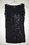 "MBADG #9-302  ""Radzoli Fancy Black Knit Embelished Shell"""