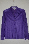 "MBADG #18-333  ""Caribbean Joe Purple Suede Look Button Front Shirt"""