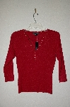 "**MBADG #18-005  ""August Silk Fancy Red Top With Gromet Trim"""