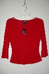 "**MBADG #18-035  ""Express Red Pullover Top"""