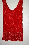 "MBADG #18-048  ""M. Nicole Evening Fancy Red Crochet Tank"""
