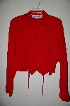 "+MBADG #18-074  "" Adobe Rose Fancy Red Button Front Shirt"""