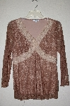"MBADG #18-100  ""Moa & Moa Fancy Brown Lace Top"""