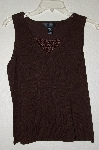 "MBADG #18-103  ""Pointelle Fancy Brown Knit Tank"""
