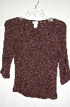 "MBADG #18-118  ""Creative Design Works Fancy Brown Knit Top"""
