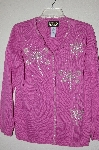 "MBADG #18-138  ""Bob Mackie Pink Dragonfly Beaded Sweater"""