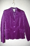 "**MBADG #18-215  ""Chadwicks Purple Velvet Button Front Jacket"""