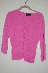 "MBADG #18-313  ""Star City Fancy Rhinestone Button Pink Cardigan"""