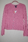 "MBADG #18-310  ""Boston Proper Fancy Pink Rhinestone Button Cardigan"""