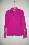 "**MBADG #**18-296  ""Susan Graver  Fancy Stretch Knit Embelished 3 Button Jacket"""