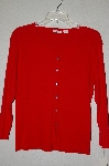 "MBADG #18-278  ""Designer Red Button Front Light Weight Cardigan"""