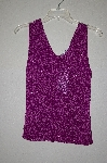 "MBADG #18-270  ""Sophie Chang Fancy Purple Crochet & Bead Tank"""