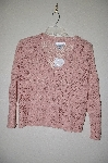 "MBADG #18-257  ""Newport News Fancy Pink Crochet Cardigan"""