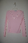 "MBADG #18-246  ""Body Central Pink Fancy Beaded One Of A Kind Top"""