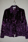"**MBADG #18-242  ""Coldwater Creek Purple Velvet Ribbon Detail Shirt Jacket"""