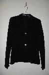 "**MBADG #18-293  ""Citiknits Black Textured Button Front Angled Sleve Jacket"""