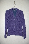 "**MBADG #18-234  ""Citiknits Purple Textured Button Front Angled Sleve Jacket"""