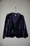 "**MBADG #18-266  ""Odille Fancy Blue Velvet Jacket"""