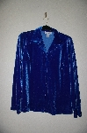 "MBADG #52-412  ""JG Hook Fancy Blue Velvet Button Front Shirt"""