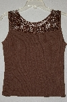 "MBADG #52-360  ""Joseph A Fancy Knit Crochet Top Tank"""