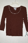 "MBADG #52-357  ""Gabby D Fancy Brown Knit Rhinestone Embelished Top"""