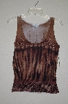 "MBADG #52-351  ""Caren Brook Fancy Brown Bead Embleished Knit Tank"""