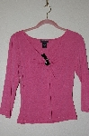 "MBADG #52-287  ""Express Mauve Metal Ring V-Neck Pullover Top"""