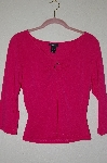 "MBADG #52-290  ""Express Dk Pink Metal Ring V-Neck Pullover Top"""