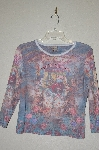 "MBADG #52-328  ""Susan Lawrence Rhinestone Embelished Fancy Print T"""
