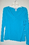 "**MBADG #52-325  ""Freelance TQ Blue V-Neck Long Sleve Crossover Top"""