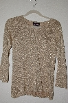 "MBADG #52-322  ""Bradley By Bradley Bayou Gold Silk/Cashmere Blend Sweater"""