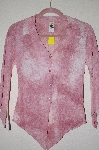 "MBADG #52-302  ""2B Clothing Sheer Pink Fancy Button Front Shirt"""