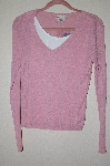"MBADG #52-299  ""Authentic Pink Sweater Top With Attached Tank"""