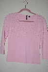 "MBADG #52-273  ""Venini Pink Glass Pearl Embelished Sweater"""