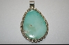 "**  Artist Signed ""E.Belone"" Blue Turquoise Pendant"