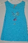 "MBADG #52-239  ""Susan Lawrence Rhinestone Embelished Blue Tank"""