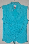 "MBADG #52-236  ""Vision Apparel Fancy Blue Stretch Top"""