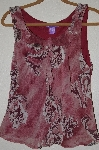 "MBADG #52-232  ""Newsworthy Antique Pink Floral Tank"""