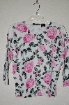 "MBADG #52-193  ""Nicknits Fancy Pink Rose Button Front Sweater"""