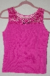 "MBADG #52-144  ""J.A.C. Fancy Pink Crochet Top Knit Tank"""