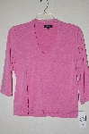"MBADG #52-130  ""Peck & Peck Pink Stretch 3/4 Sleve Top"""