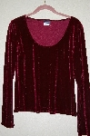 "MBADG #52-119 ""Boston Proper Red Velvet Pullover Top"""
