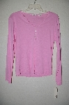"MBADG #52-063  ""Designer Pink Stretch Button Top T"""