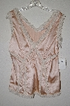 "MBADG #52-442  ""Gina Camarillo Fancy Pink Satin & Lace Trim Top"""