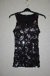 "MBADG #31-037  ""Express Fancy Black Sequined Tank"""