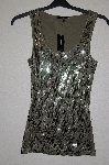 "MBADG #31-033  ""Express Fancy Olive Green Sequined Tank"""