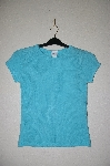 "MBADG #31-167  ""Timing USA Blue Knit Short Sleve Top"""