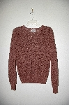 "MBADG #31-193  ""British Vogue 1980's One Of A Kind Brown Hand Beaded Sweater"""