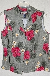 "MBADG #31-295  ""Havana Jack Cafe Fancy Floral Button Front Top"""