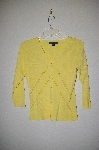 "MBADG #31-280  ""C'est City Fancy Yellow One Of A King Hand Beaded Cardigan"""